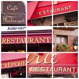 Fototapety Collage restaurants - Paris, France