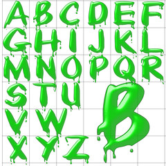 abc alphabet background paintdrips design