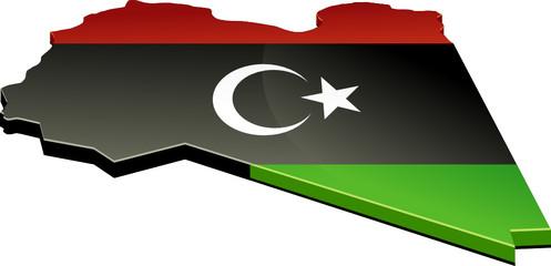 Carte 3D de la Libye (détouré)
