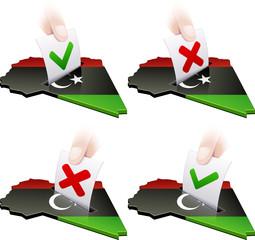 Référendum en Libye : pour ou contre (détouré)