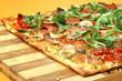 EDZR - Cheese, banana, ham, onion and arugula Pizza