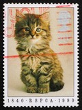 Postage stamp GB 1990 Prevention of Cruelty to Animals poster