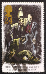 Postage stamp GB 1993 Sherlock Holmes and Mycroft, The Greek Int