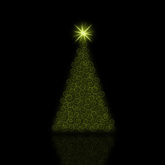 Phosphorescent Christmas Tree