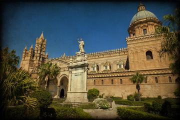 La Cattedrale di Palermo, texture retro