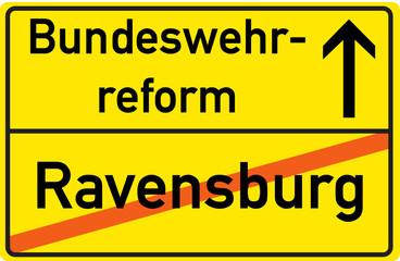 Schild Bundeswehrreform Ravensburg
