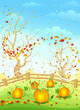 Autumn landscape. Vector illustration.