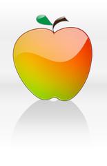 Apfel mit Reflektion