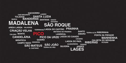 Pico typographic silhouette