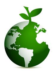 apple globe illustration design on white