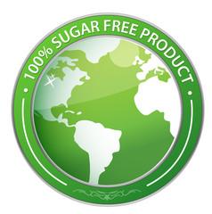 Sugar Free Label illustration design