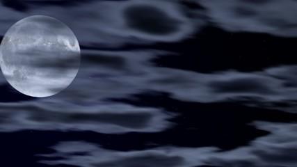 Vollmond hinter Wolken im Zeitraffer (25i)