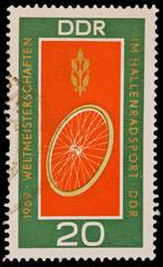 GERMANY - CIRCA 1969:  Weltmeisterschaften im hallenradsport