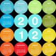 2012 circular calendar
