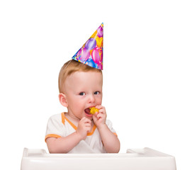The one-year-old kid in birthday