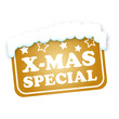 X-MAS SPECIAL GOLD STICKER
