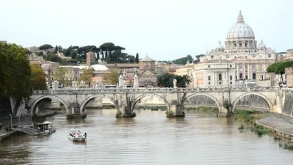 Fiume Tevere, Ponte Sant'Angelo, San Pietro, Roma