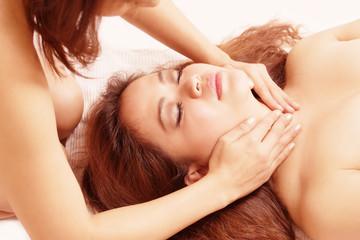 Massage sensual two women