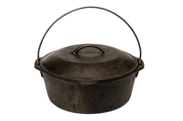Cast Iron Pot Isolated