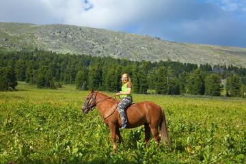 Happy female rider