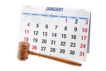 Gavel and Calendar