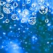 Elegant blue christmas background. EPS 8