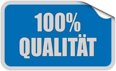 Sticker blau eckig curl oben 100% QUALITÄT
