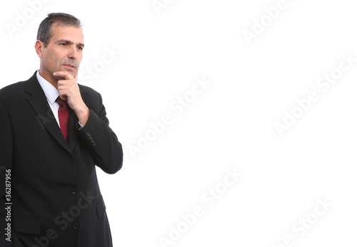 handsome thoughtful businessman