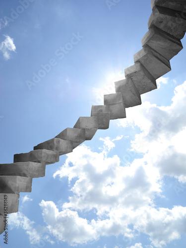Poster Treppe zum Himmel