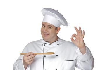 Un cocinero contento.