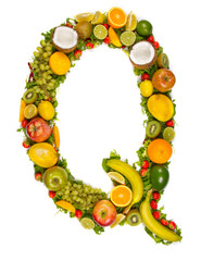 "Fruit alphabet letter ""Q"""