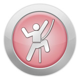 "Light Colored Icon (Red) ""Rock Climbing"""