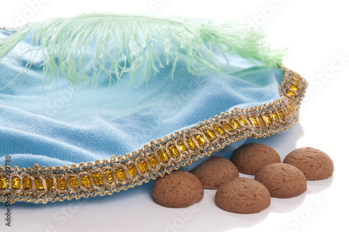 Traditional Dutch Sinterklaas hat with candy