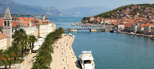 Panorama of Trogir,  famous touristic Town