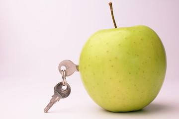 apfel mit schlüssel