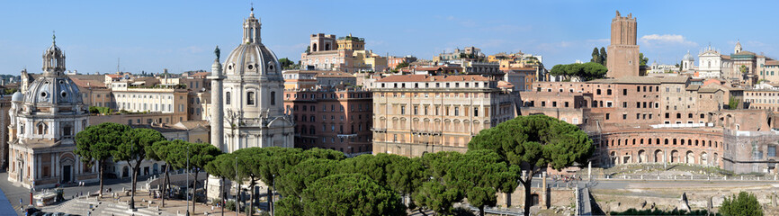 Panorama dal Vittoriano (Colonna Traiana) Roma