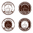 Vector coffee time stamps set
