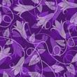 Violet seamless floral pattern