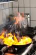 Feuer in der Bratpfanne