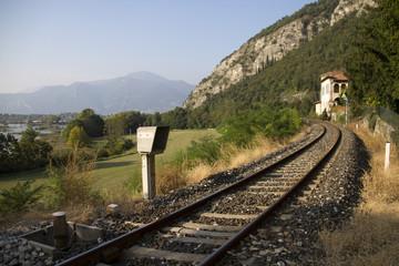 lungo i binari della ferrovia