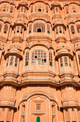 Close up of Palace of  winds (Hawa Mahal) in Jaipur, India .