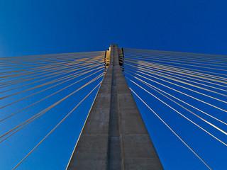 modern bridge Swietokrzyski, Warsaw , Poland