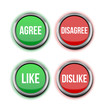 agree disagree like dislike buttons
