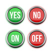 yes no on off buttons