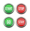 start stop go stay buttons