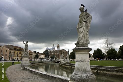 Statues in Padua Poster