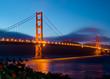 Golden Gate Bridge in San Francisco after sunset