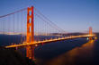 Golden Gate Bridge in San Francisco right after sunset