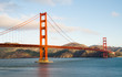 Golden Gate Bridge in San Francisco right after sunrise