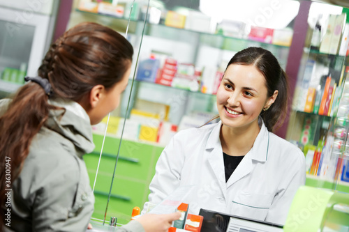 Leinwanddruck Bild medical pharmacy drug purchase